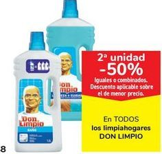 Oferta de En TODOS los limpiahogares DON LIMPIO, iguales o combinados  por