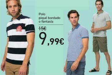 Oferta de Polo piqué bordado o fantasía  por 9,99€