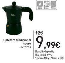 Oferta de Cafetera tradicional negro  por 9,99€