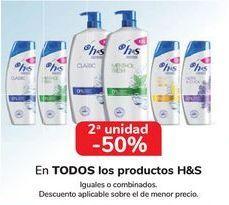 Oferta de En TODOS los productos H&S, iguales o combinados  por