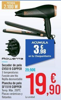 Oferta de Secador de pelo CV5519 COPPER ROWENTA  por 19,9€