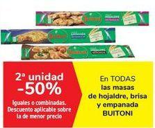 Oferta de En TODAS las masas de hojaldre, brisa y empanada BUITONI, iguales o combinadas  por