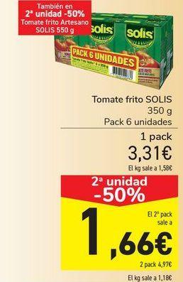 Oferta de Tomate frito SOLIS por 3,31€