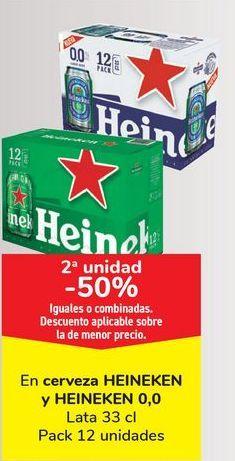 Oferta de En cerveza HEINEKEN y HEINEKEN 0,0, iguales o combinados  por