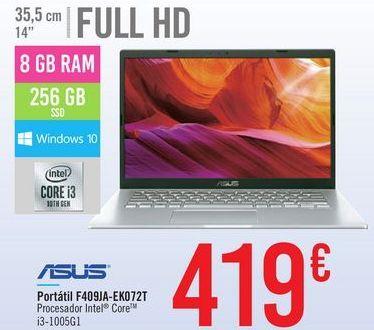 Oferta de Portátil F409JA-EK072T ASUS por 419€