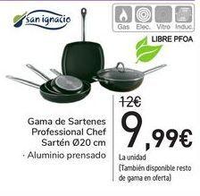 Oferta de Gama de sartenes Prodessional Chef  por 9,99€