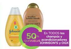 Oferta de En TODOS los champús y acondicionadores JOHNSON'S y OGX por