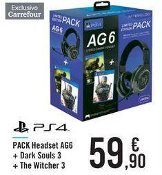 Oferta de PACK Headset AGG + Dark Souls 3 + The Witcher 3 por 59,9€