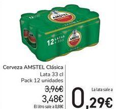 Oferta de Cerveza AMSTEL Clásica  por 3,48€
