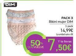 Oferta de Bikini mujer DIM  por 14,99€