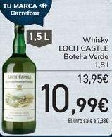 Oferta de Whisky LOCH CASTLE Botella Verde por 10,99€