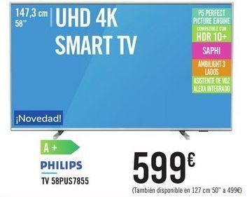 Oferta de TV 58PUS7855 PHILIPS por 599€
