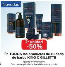 Oferta de En TODOS los productos de cuidado de barba King C Gillette  por