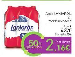 Oferta de Agua LANJARÓN por 4,32€