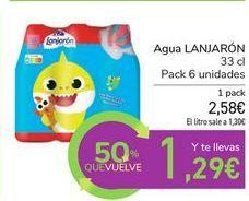 Oferta de Agua LANJARÓN por 2,58€