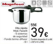 Oferta de Olla rápida Mod.Favorit Magefesa  por 39€