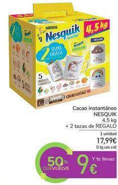 Oferta de Cacao instantáneo NESQUIK por 17,99€