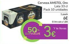 Oferta de Cerveza AMSTEL Oro por 6€