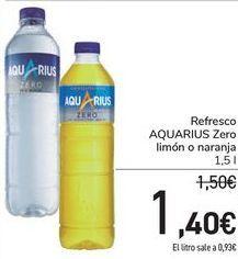 Oferta de Refresco AQUARIUS Zero limón o naranja  por 1,4€