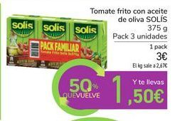 Oferta de Tomate frito con aceite de oliva SOLÍS por 3€