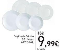 Oferta de Vajilla de Vidrio 18 piezas ARCOPAL  por 9,99€