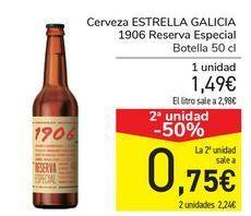 Oferta de Cerveza ESTRELLA GALICIA 1906 Reserva Especial  por 1,49€