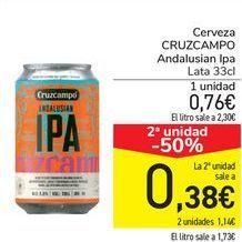 Oferta de Cerveza CRUZCAMPO Andalusian Ipa  por 0,76€