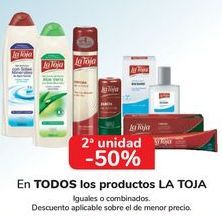 Oferta de En TODOS los productos LA TOJA, iguales o combinados  por