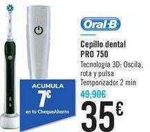 Oferta de Cepillo dental PRO 750 Oral-B  por 35€