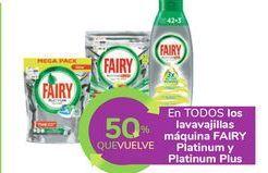 Oferta de En TODOS los lavavajillas máquina FAIRY Platinum y Platinum Plus por