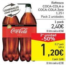 Oferta de Refresco COCA-COLA o COCA-COLA Zero por 2,4€