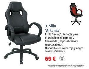 Oferta de Silla de oficina giratoria por 69€
