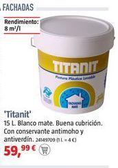 Oferta de Pintura plástica exterior Titanit por 59,99€