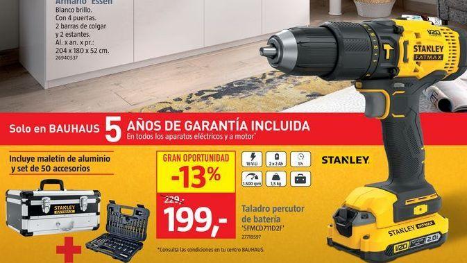 Oferta de Taladro percutor Stanley por 199€