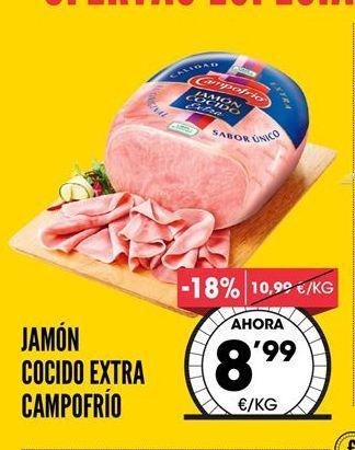 Oferta de Jamón Cocido Extra Campofrío por 8,99€