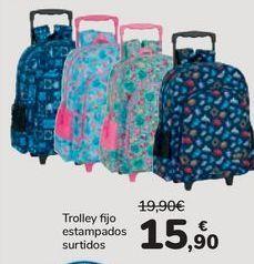 Oferta de Trolley fijo estampados surtidos por 15,9€