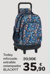 Oferta de Trolley reforzado extraible estampados BLACKFIT por 35,9€