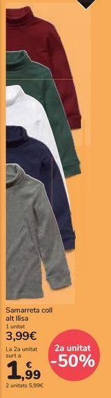 Oferta de Camiseta cuello cisne lisa por 3,99€