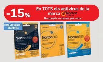 Oferta de En TODOS los antivirus de la marca Norton por