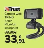 Oferta de Webcam TRINO 720P Trust  por 33,91€