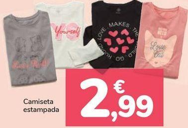 Oferta de Camiseta estampada  por 2,99€