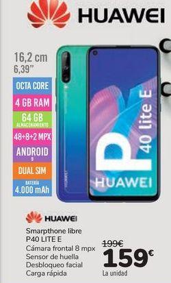 Oferta de Smartphone libre P40 LITE E HUAWEI por 159€