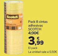 Oferta de Pack 8 cintas adhesivas SCOTH por 3,99€