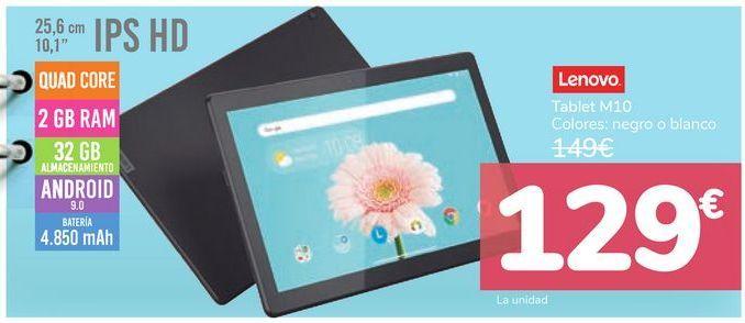 Oferta de Tablet M10 Lenovo  por 129€