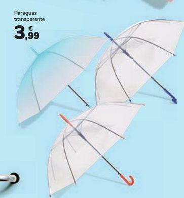 Oferta de Paraguas transparente por 3,99€