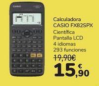 Oferta de Calculadora CASIO FX82SPX  por 15,9€