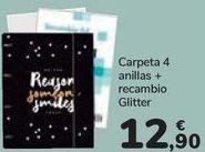 Oferta de Carpeta 4 anillas + recambio Glitter  por 12,9€