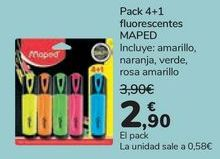Oferta de Pack 4+1 fluorescentes MAPED  por 2,9€