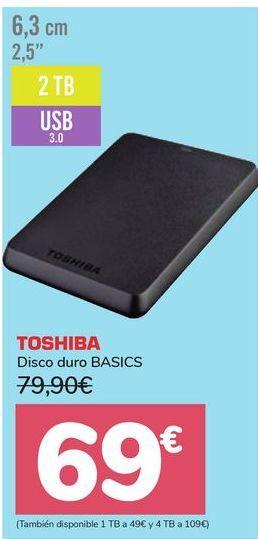 Oferta de Disco duro BASICS TOSHIBA por 69€