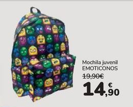 Oferta de Mochila juvenil EMOTICONOS  por 14,9€